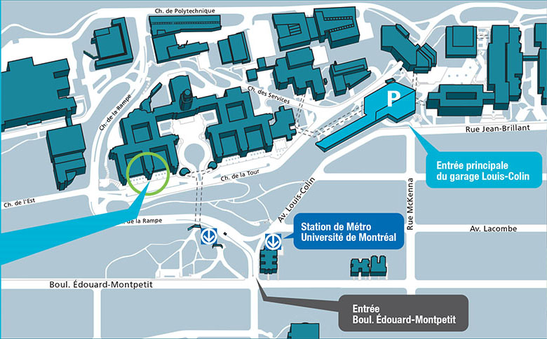 Udm Campus Map.Getting To The Clinic Faculte De Medecine Dentaire Udem